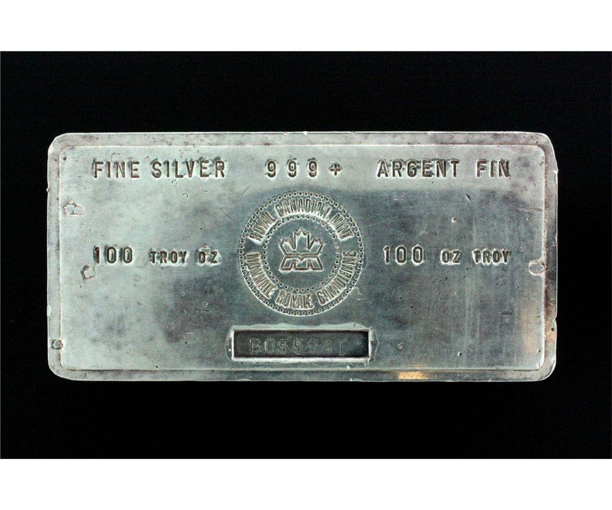 Image 1 Bullion Bar One 100 Troy Ounce Royal Canadian Mint