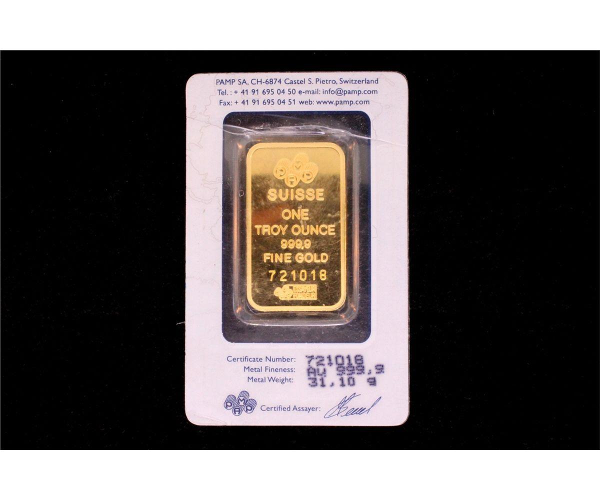 Image 2 Bullion 1 Pamp Suisse Troy Ounce 999 9 Fine Gold