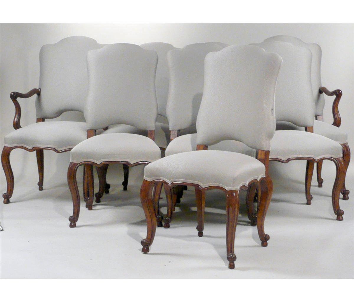 Eight Minton Spidell Louis Xv Style Dining Chairs 20th C N9enae Loading Zoom