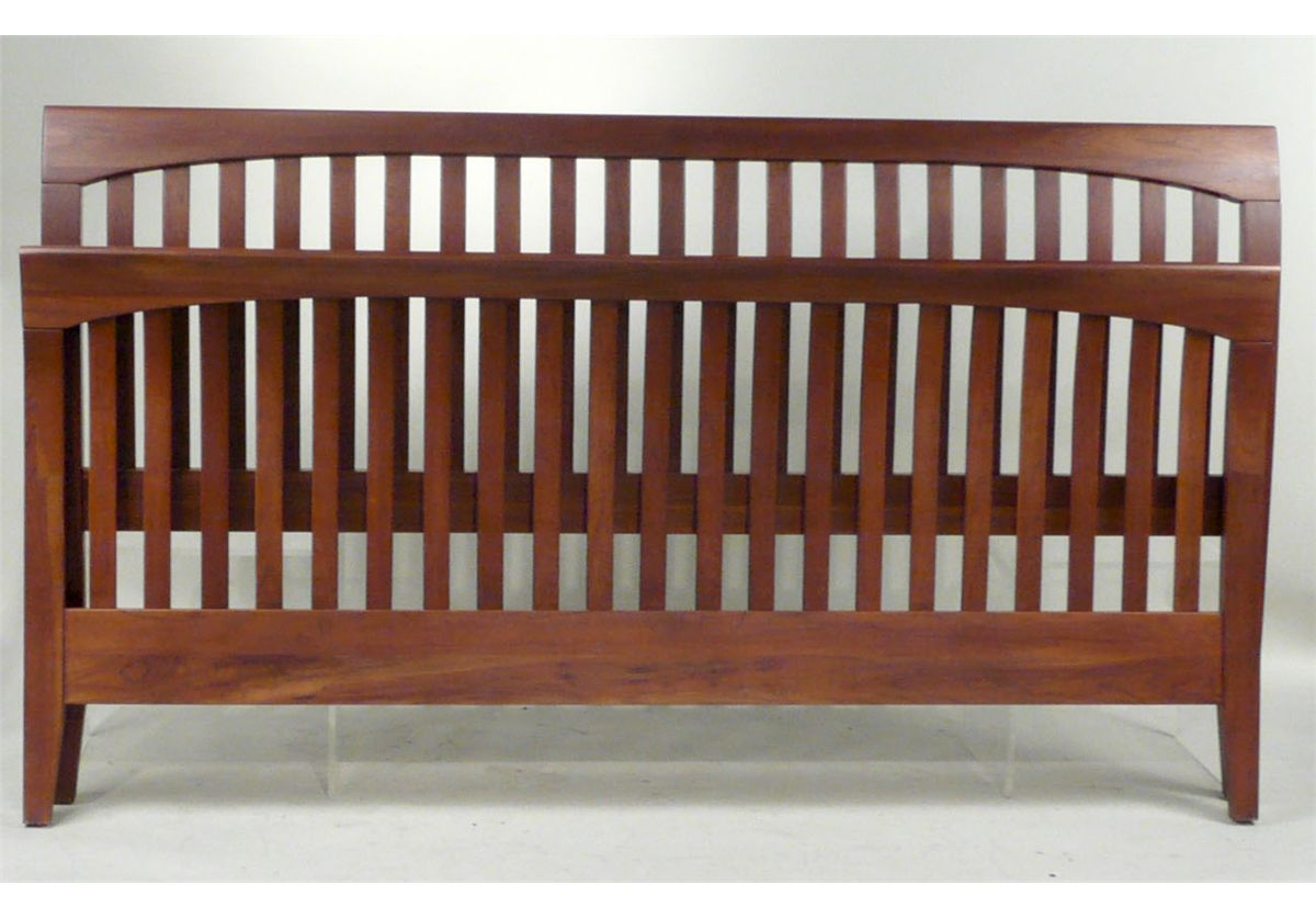 Image 1 Contemporary Ethan Allen King Size Sleigh Bed 20th C N9enbh