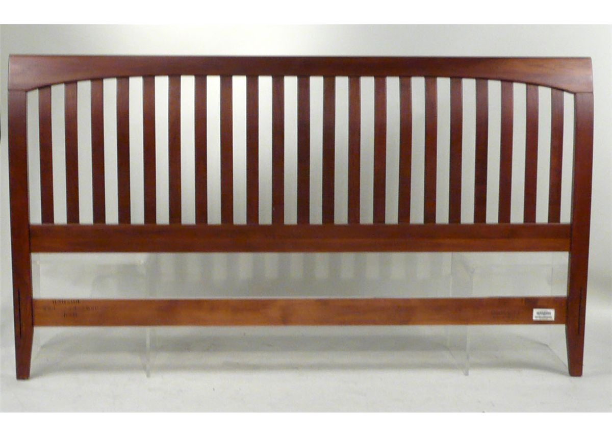Image 2 Contemporary Ethan Allen King Size Sleigh Bed 20th C N9enbh