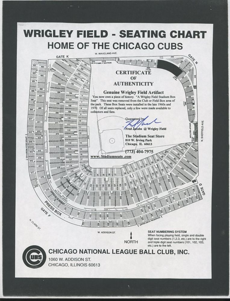 wrigley field seat numbers. Black Bedroom Furniture Sets. Home Design Ideas