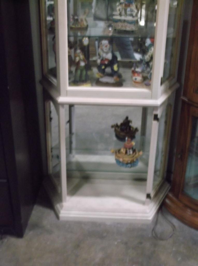 Image 2 White Wash Curio Cabinet Rox 30 X 12 76