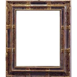 Italian Style 20th Century Mirror Carved Gilded Wood Frame 17 3 4 X 15 With Old Gl