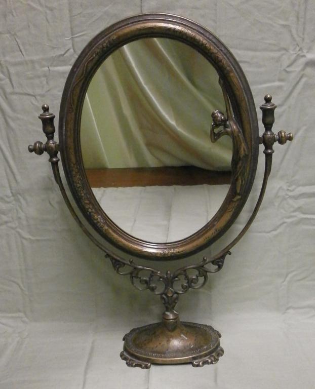 Antique Art Nouveau Br Vanity Mirror Loading Zoom