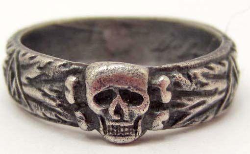 Image 1 German Waffen Ss Officer Toten Kopf Wedding Ring