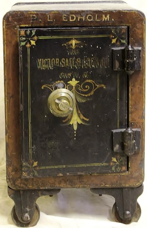 Image 1 Great Little Antique Safe Made By Victor Co