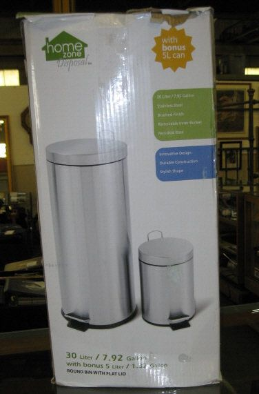 Image 2 Home Zone Trash Can New In Box