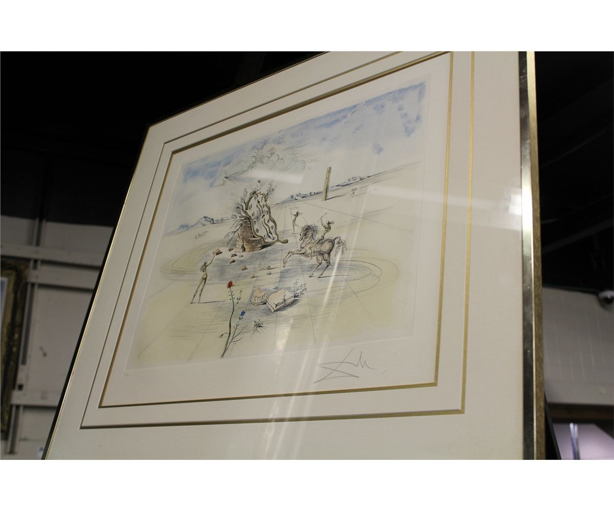 Image 1 Salvador Dali Cosmic Horseman Limited Edition Lithograph Signed Lower