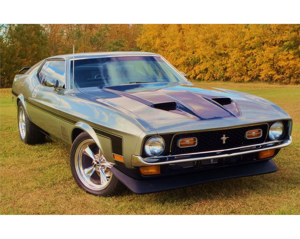 No Reserve 1971 Ford Mustang Mach 1 Sells At 300pm The Electric For Sale Image
