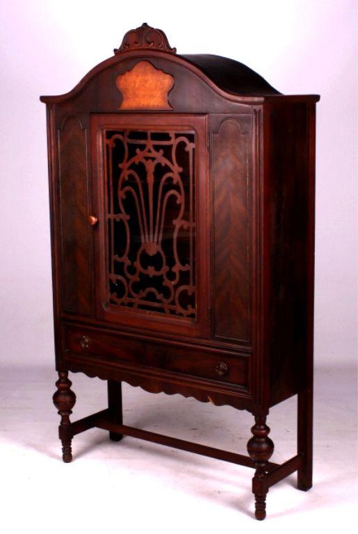 antique china cabinet 1920s Antique 1920's Walnut China CabiThis is a 1920 antique china cabinet 1920s