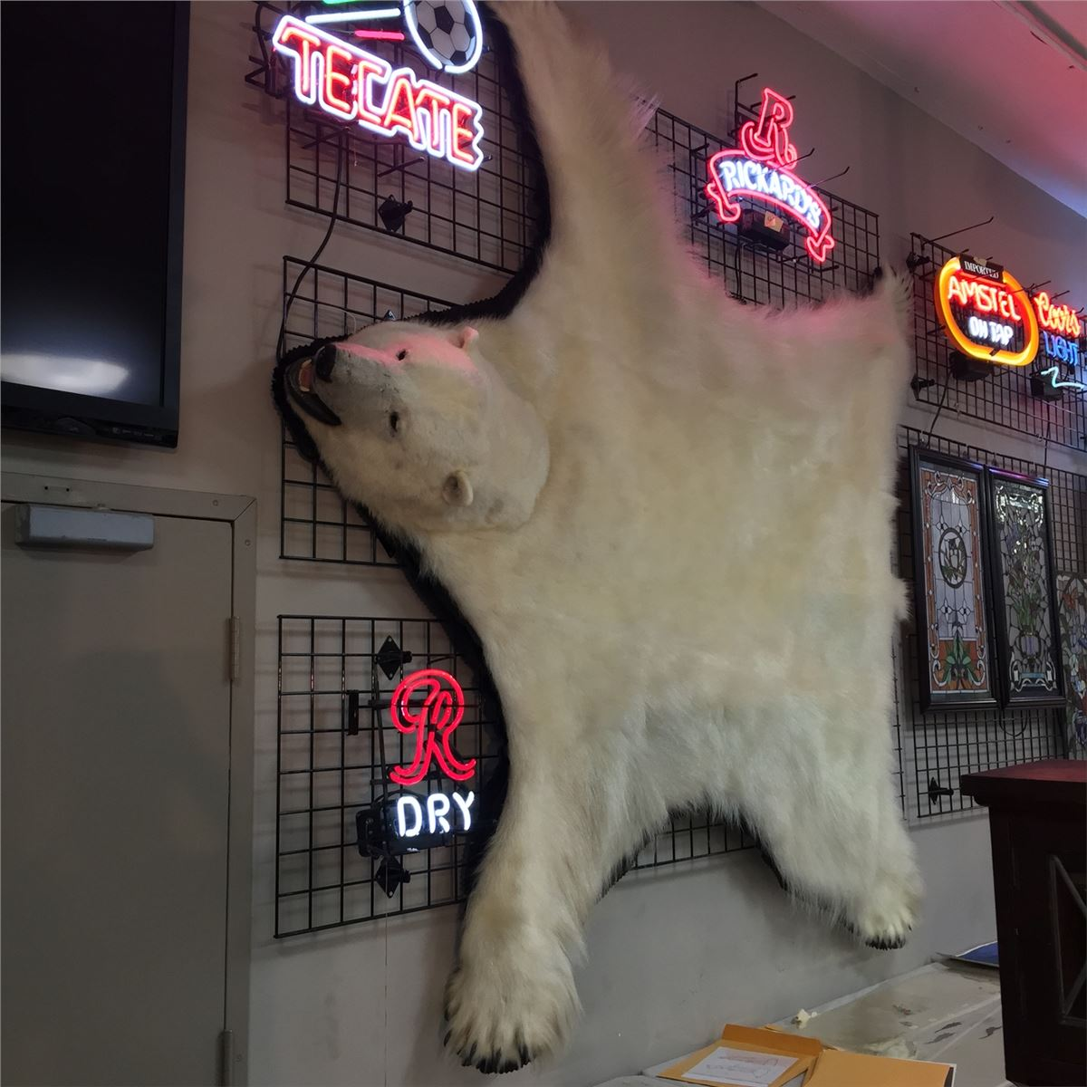 2ed9c08763 8 FOOT POLAR BEAR RUG WITH PAPERWORK AND ORIGINAL BILL OF SALE. THIS 7 YEAR