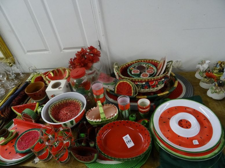 pictures of bedrooms decorating ideas large asst watermelon themed dishware amp d 233 cor 25459