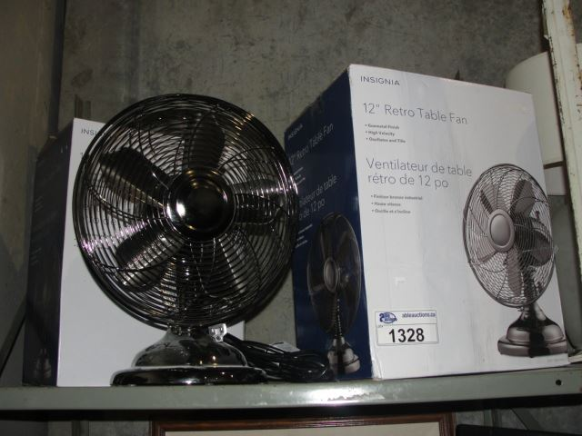 Image 1 Group Of 3 Insignia 12 Retro Table Fans