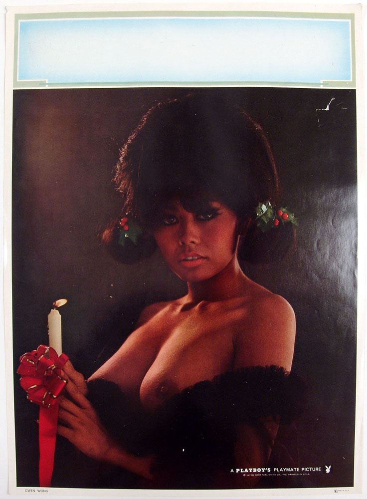 Greatest Vintage 1967 Nude Playboy Christmas Pin-Up GWEN WONG LO62
