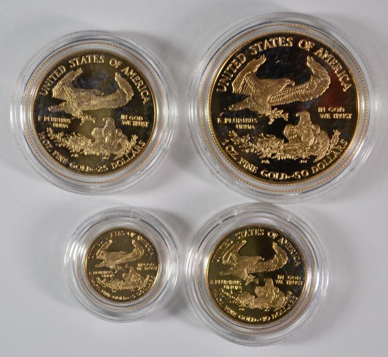 Image 2 1996 4 Piece Proof American Gold Eagle Set Box Coa Rare
