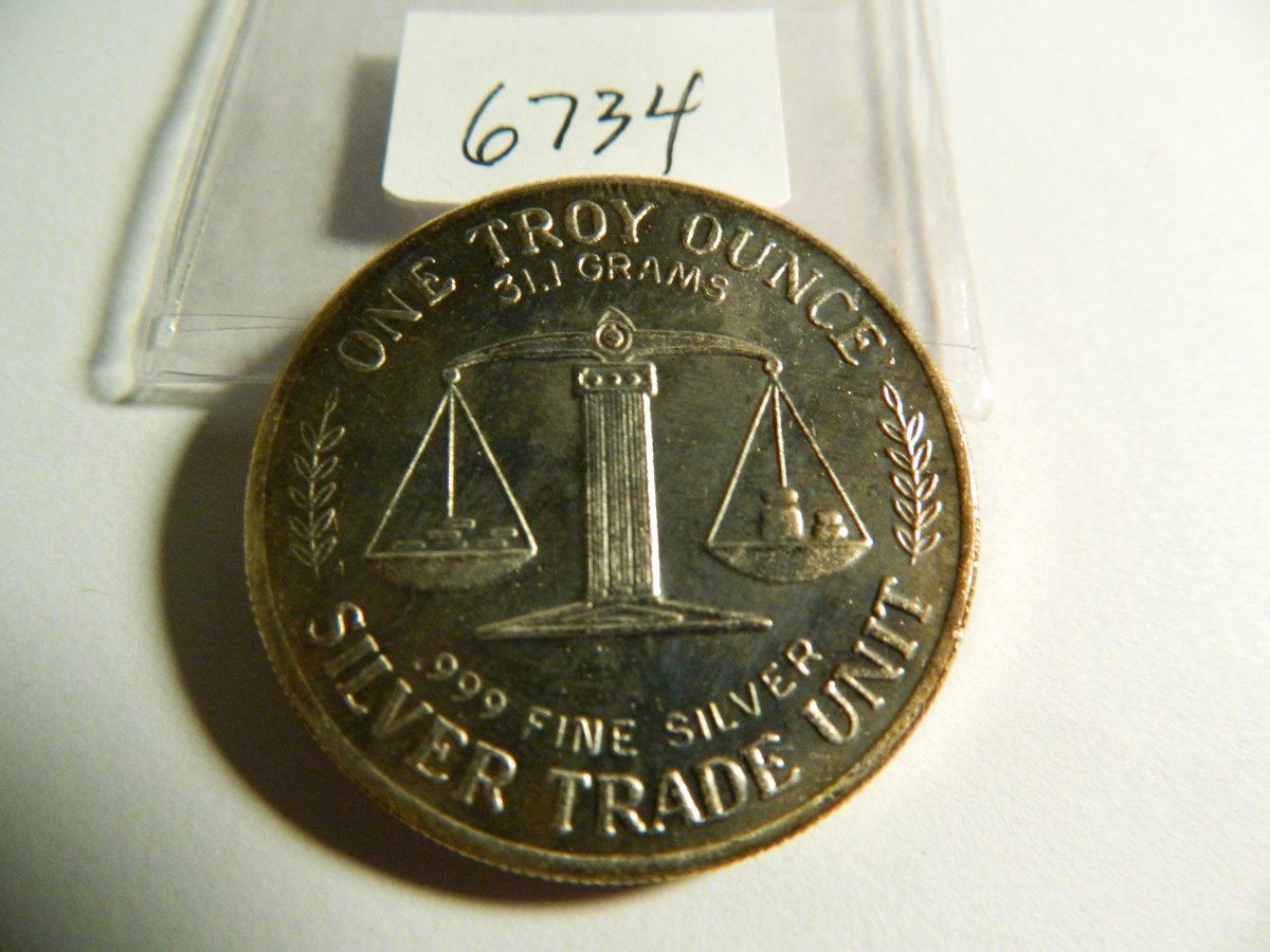 Image 1 One Troy Ounce 31 Grams 999 Fine Silver