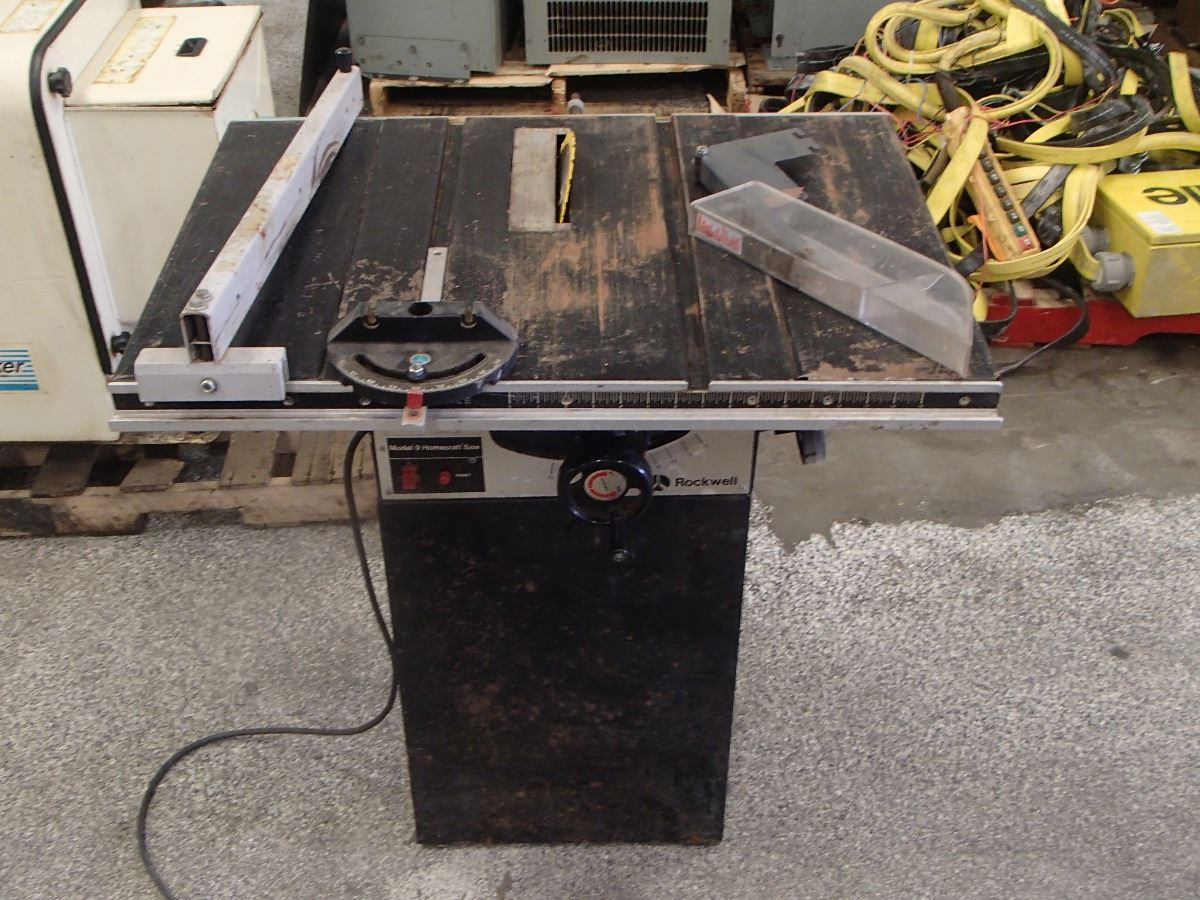 Image 1 Rockwell Homecraft Table Saw Model 9