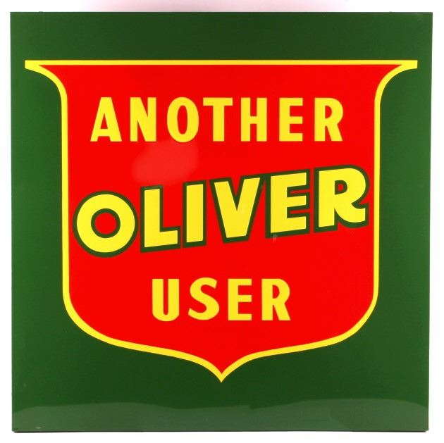 oliver tractor advertising sign