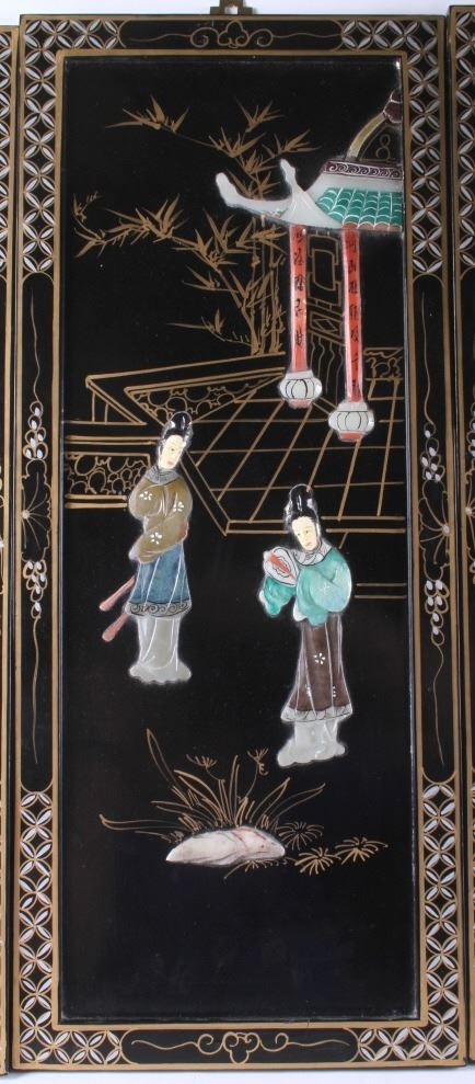 Image 4 Oriental Black Lacquer Wood Wall Panels