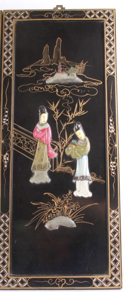 Image 6 Oriental Black Lacquer Wood Wall Panels
