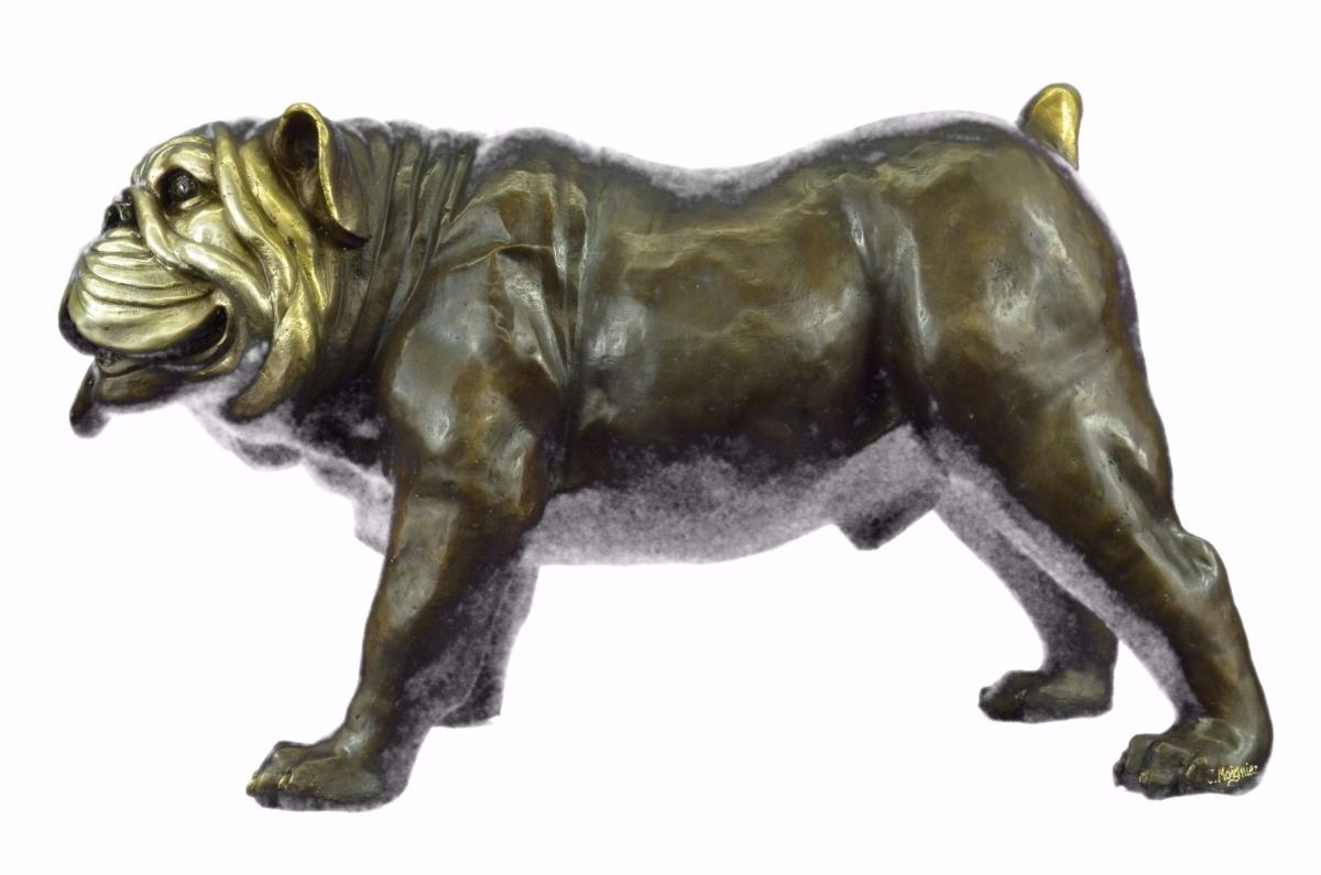 Image 9 Life Size English Bulldog Bronze Sculpture