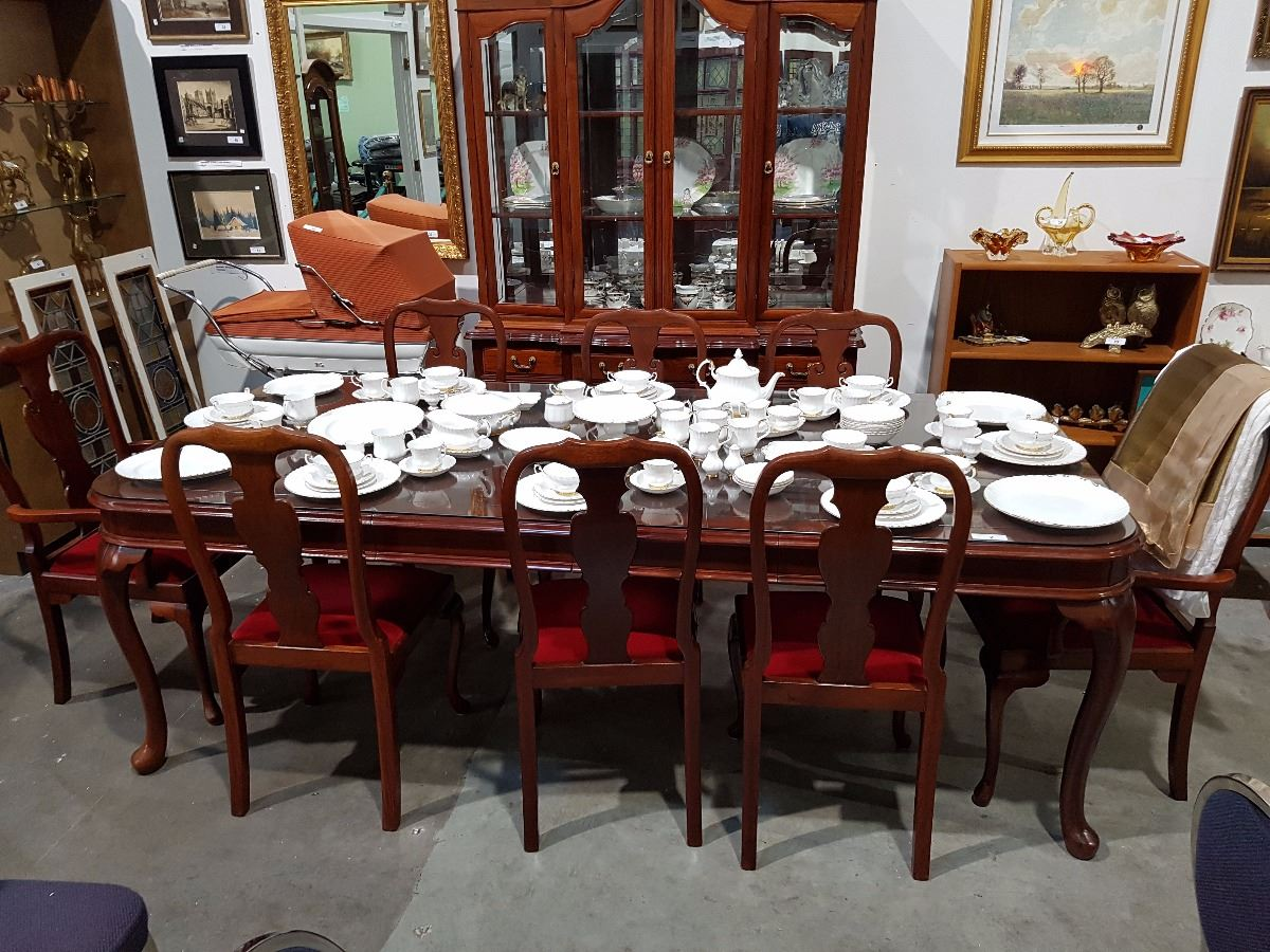 Image 1 12 Pc Solid Rosewood Dining Table And Chairs