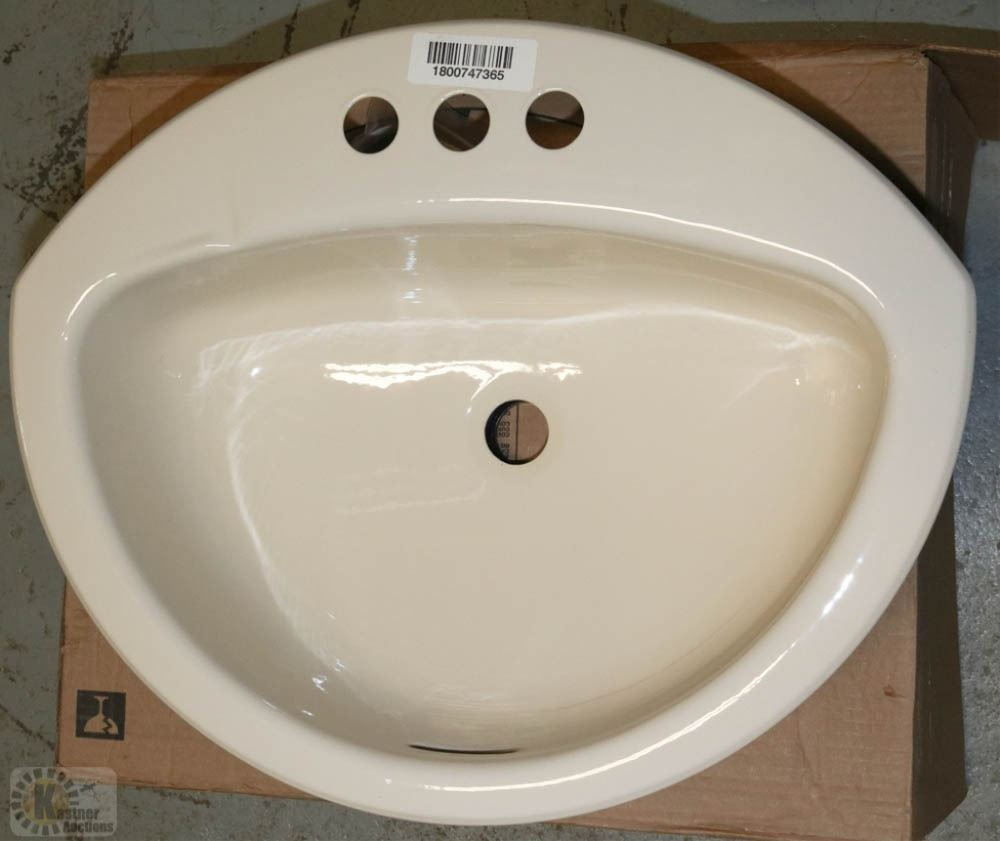 crane bathroom sinks new crane coronette bone sinks 21 quot x17 quot drop in 12578