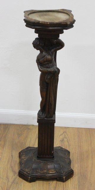 Image 2 Figural Carved Wood Pedestal