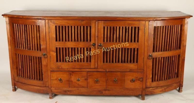 Image 1 Oak Mission Style Tv Stand Console Table
