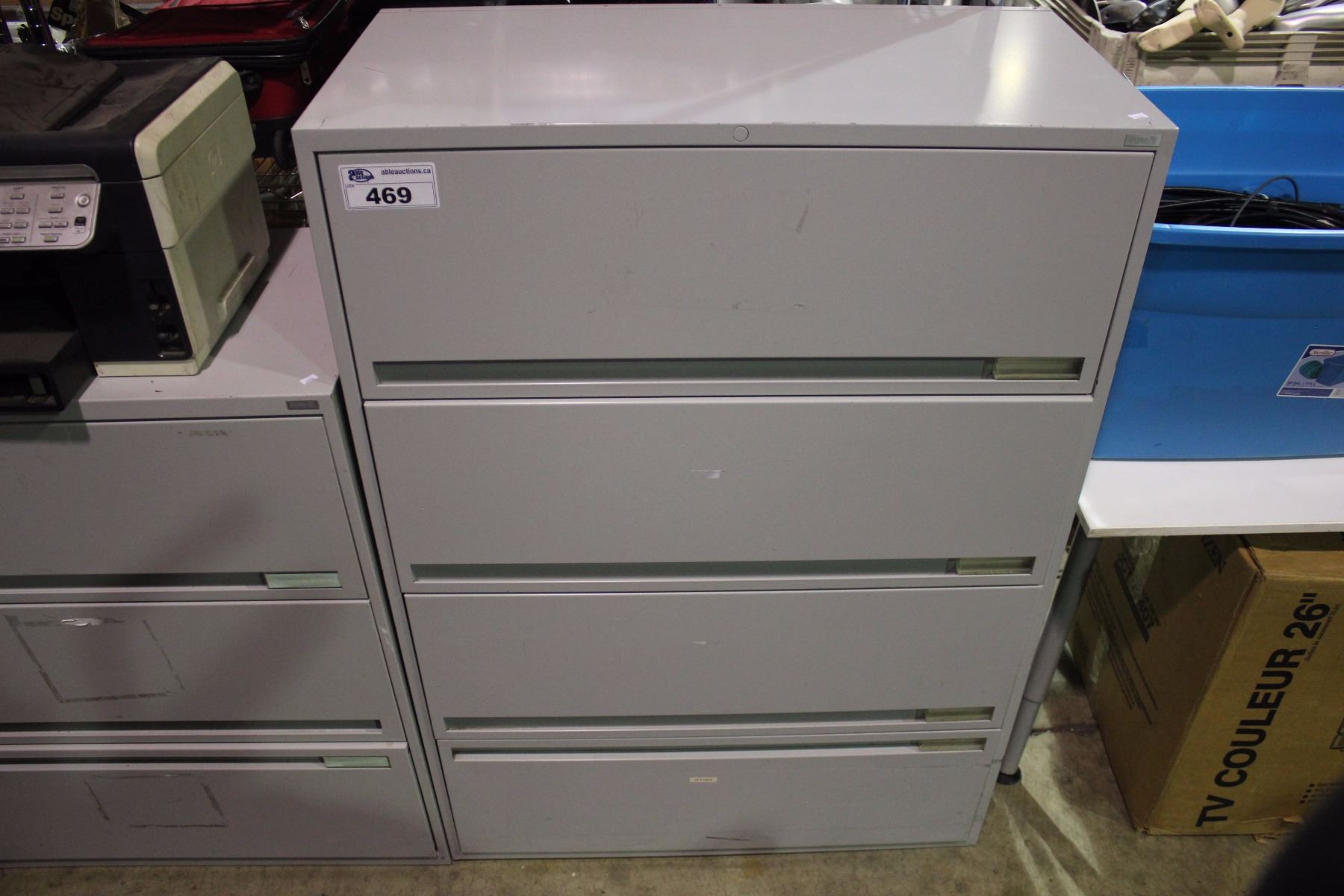 grey kitchen cabinets grey 4 drawer file cabinet able auctions 31358