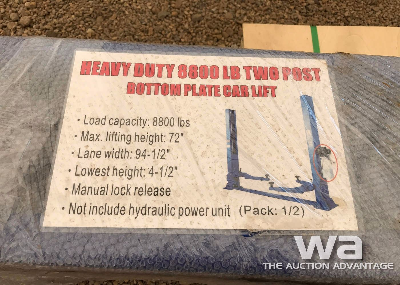 Two Post Car Lift Schematic 8800 Lb Heavy Duty Auto Image 2