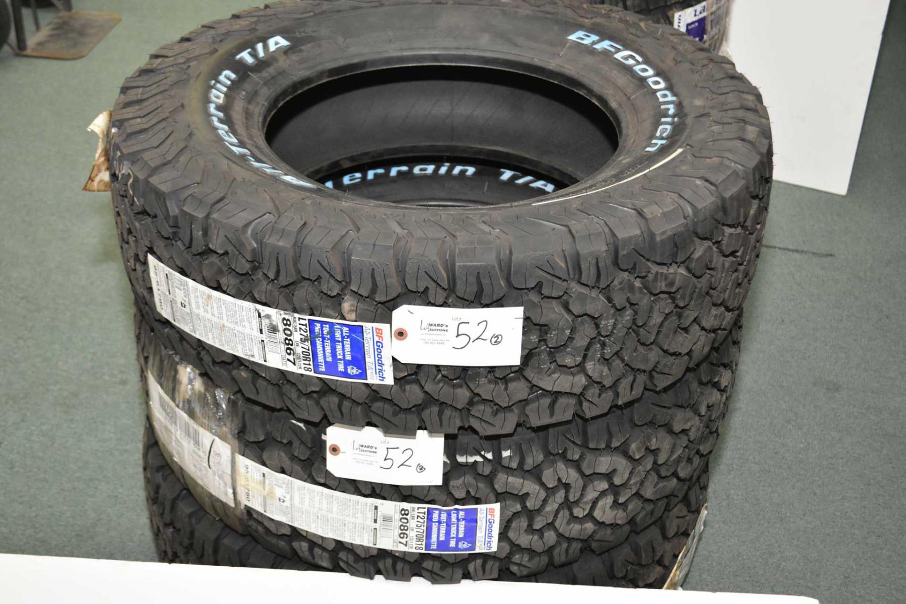 Pair of brand new BF Goodrich All Terrain T A light truck tires