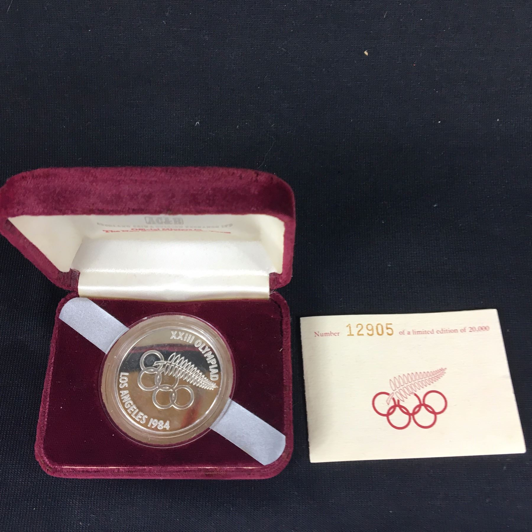 1984 New Zealand Silver Proof Five Dollars La Olympics Wiring Regulations Commemorative Coin With Case Coa