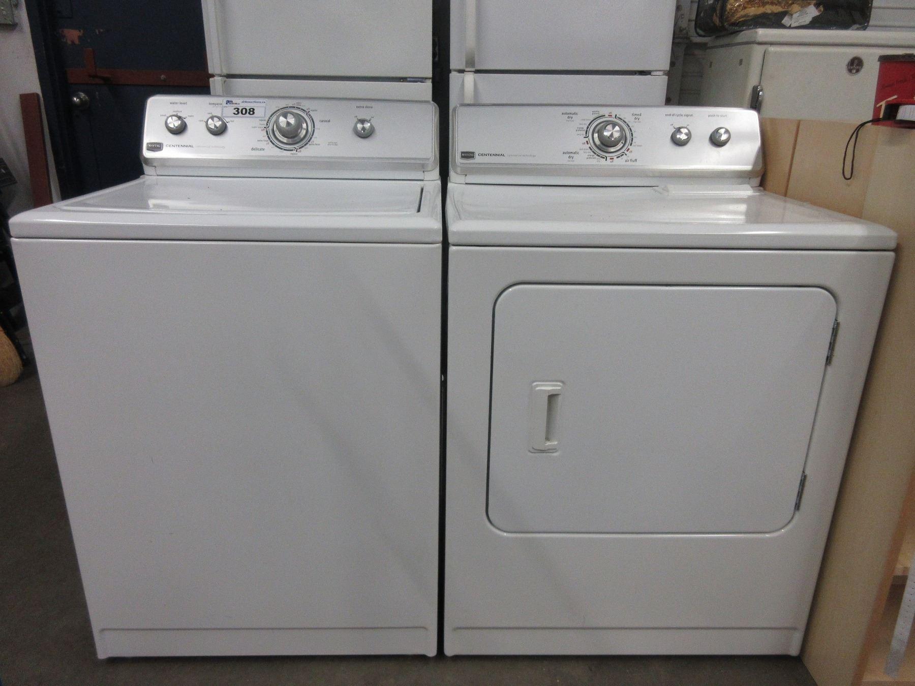 Image 1 White Maytag Washer Dryer B1
