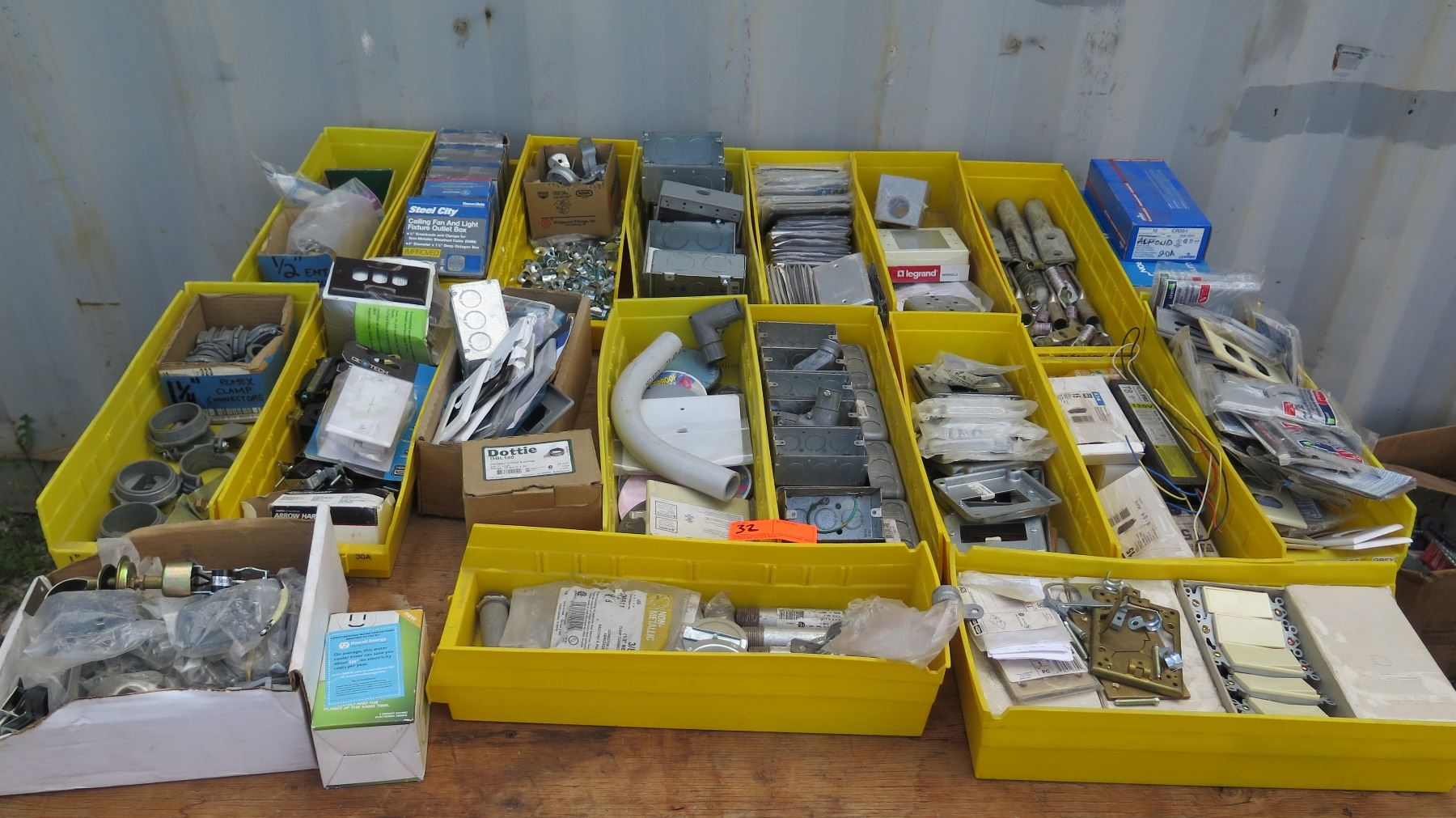 Large Lot Of Gang Boxes Outlet Covers Switches Fuses Etc 1 Electrical Fuse Box Image