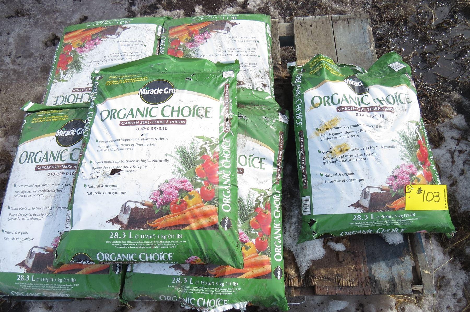 Image 1 Pallet Of Miracle Gro Organic Choice Garden Soil