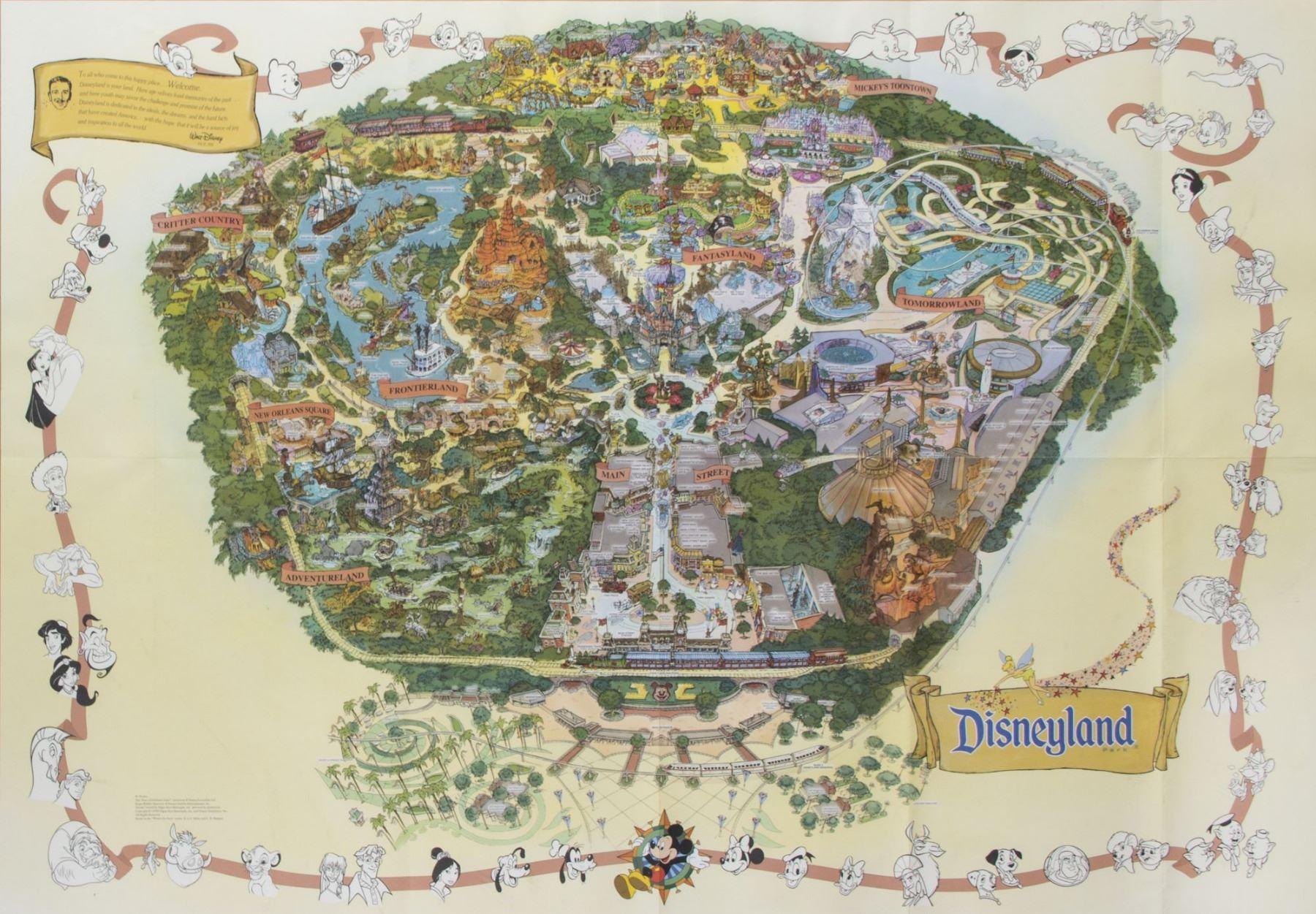 Disneyland Park Map Disneyland Park Map   1999. Disneyland Park Map