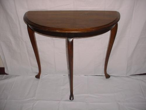 Image 1 Antique Three Legged Pine Queen Anne Style Wall Table 26 X 27