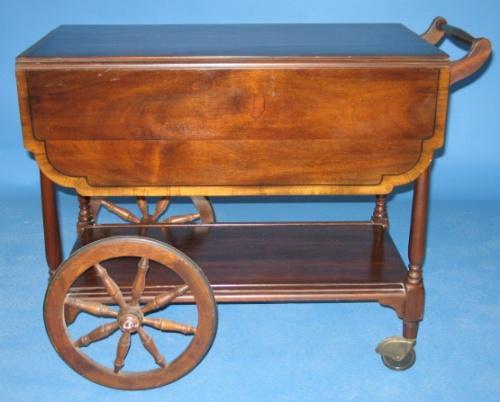 Image 1 Henkel Harris Mahogany Tea Cart