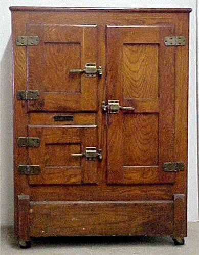 antique oak ice box Garland oak ice box antique oak ice box