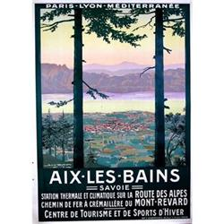 Aix Les Bains French Travel poster Geo Dorival #1047402