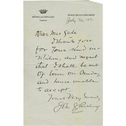 how to letter general j pershing autograph letter signed 25352