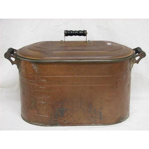 antique copper wash tub Antique Copper Boiler with Lid Wash Tub antique copper wash tub