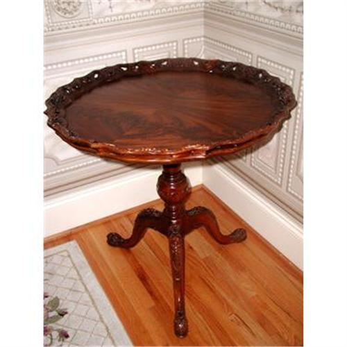 antique pie crust table Pie Crust Table Fame Mahogany Pierced C.1930 #1818489 antique pie crust table