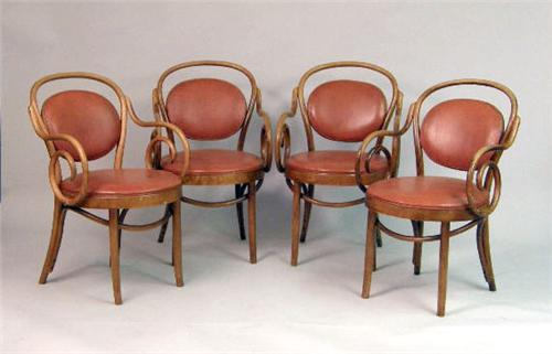 Image 1 Four Bentwood Armchairs By Shelby Williams