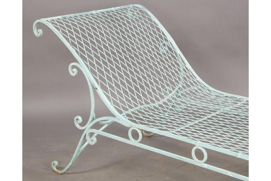 Image 3 Vintage Wrought Iron French Garden Chaise Lounge