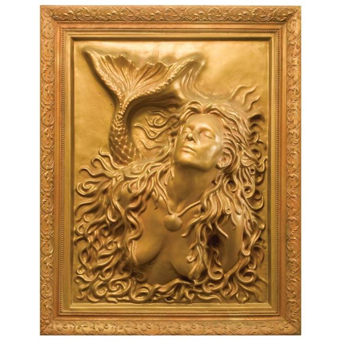 Fantastic Plaster of Paris Mermaid Wall Art OB09