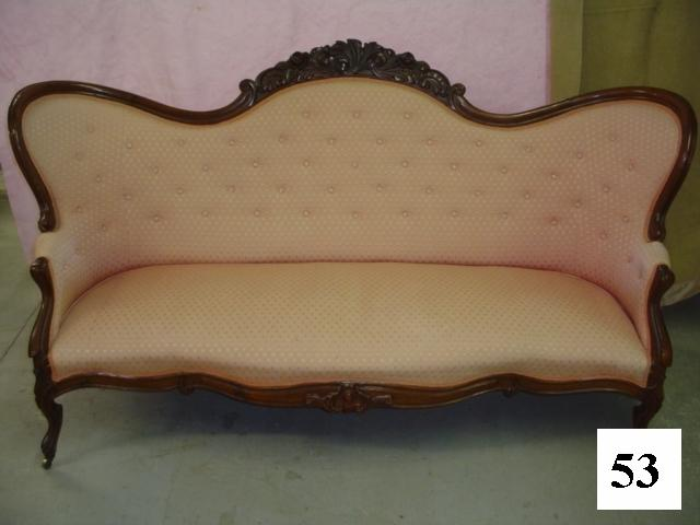 Fantastic Carved Rose Wing Back Sofa FE28