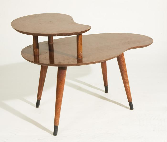 Vintage 1950 S 2 Tier Kidney Shaped Side Table Loading Zoom